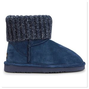 Navy Empire Suede Boots